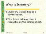 what is inventory1