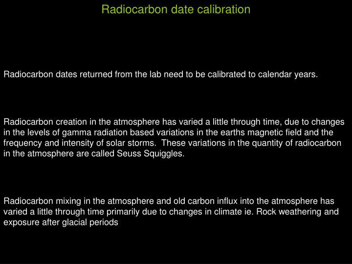 Radiocarbon date calibration