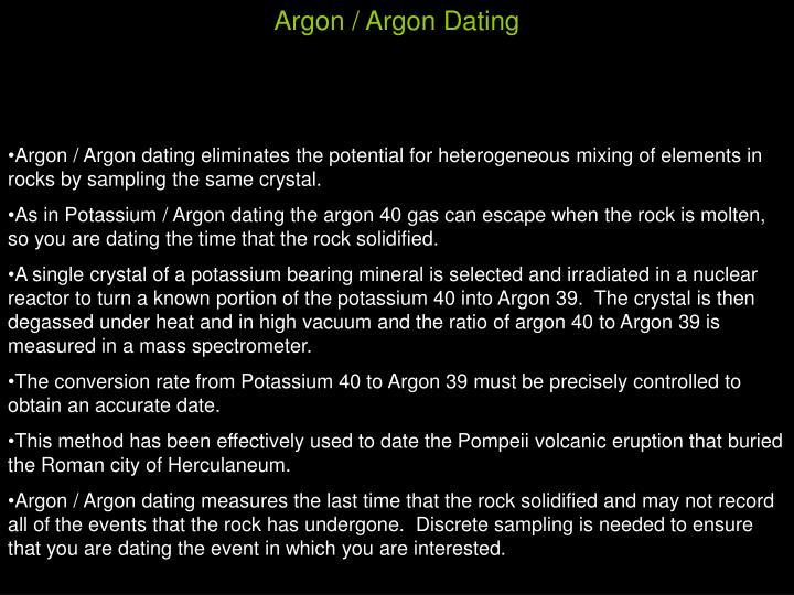 Argon / Argon Dating