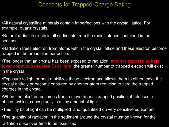 Concepts for Trapped-Charge Dating