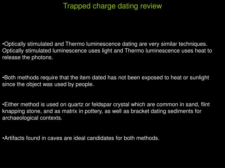 Trapped charge dating review