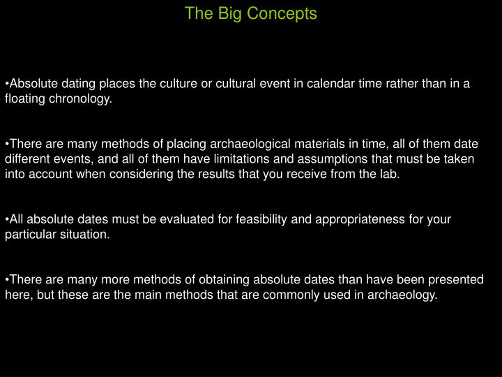 The Big Concepts