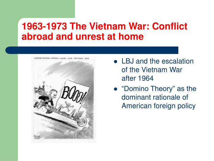 1963-1973 The Vietnam War: Conflict abroad and unrest at home
