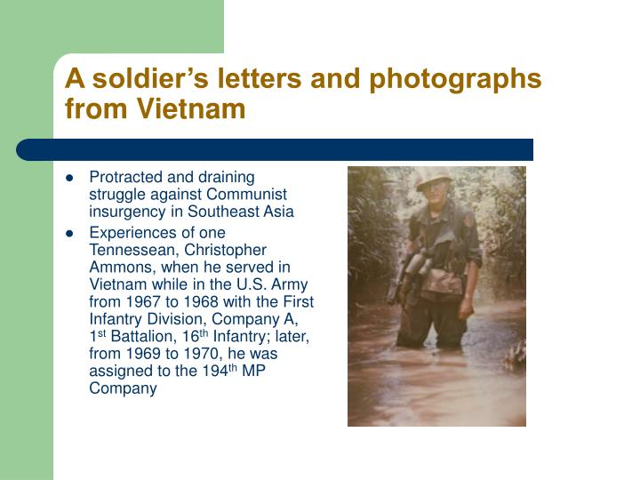 A soldier's letters and photographs from Vietnam