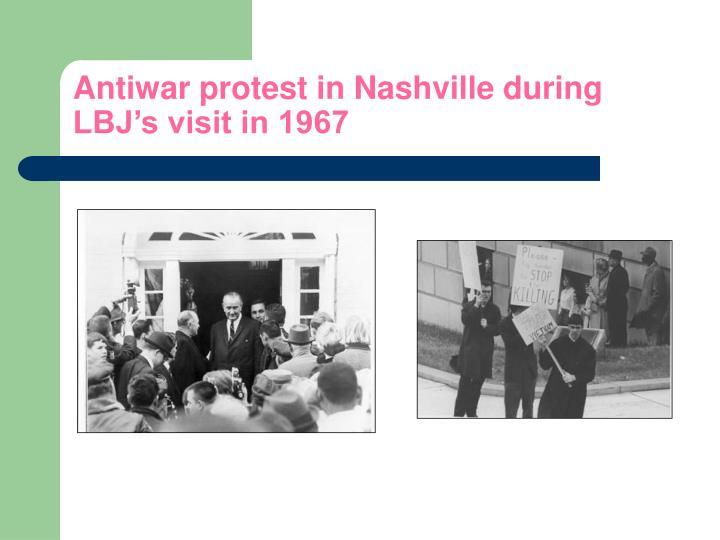 Antiwar protest in Nashville during LBJ's visit in 1967