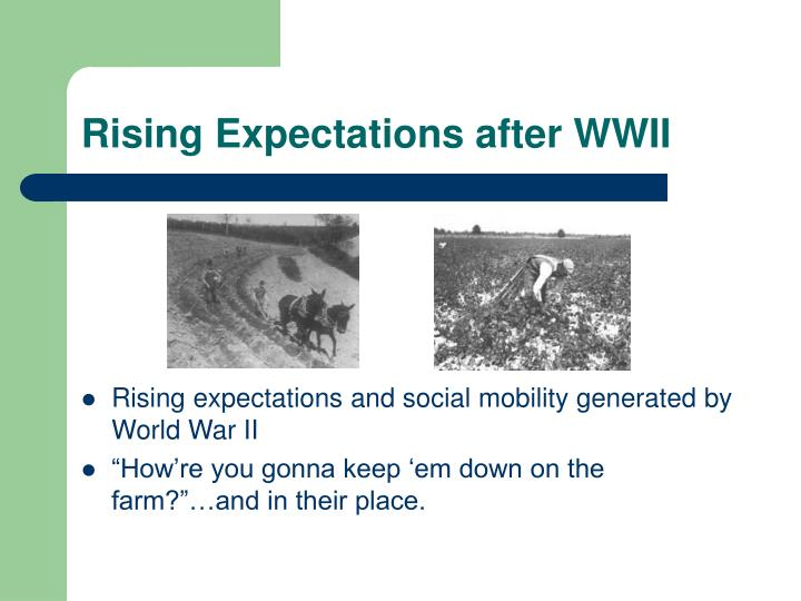Rising Expectations after WWII