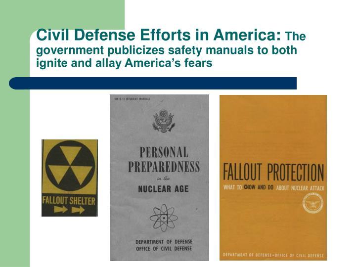 Civil Defense Efforts in America: