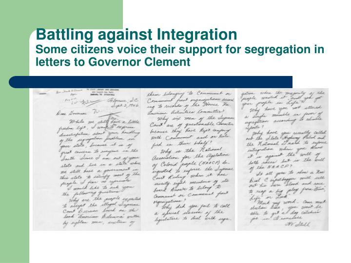 Battling against Integration
