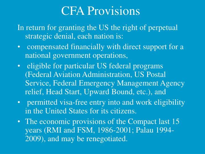 CFA Provisions