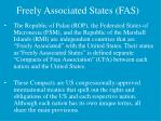 freely associated states fas