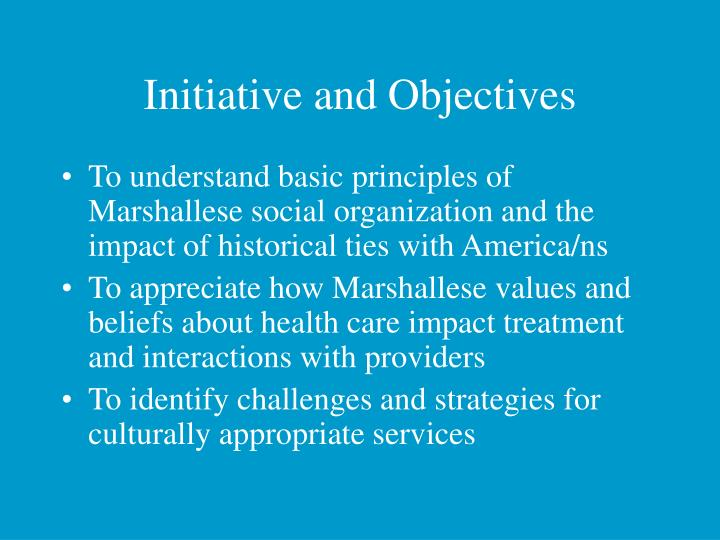 Initiative and Objectives