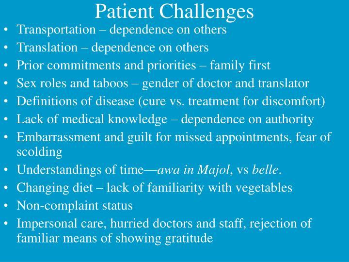 Patient Challenges