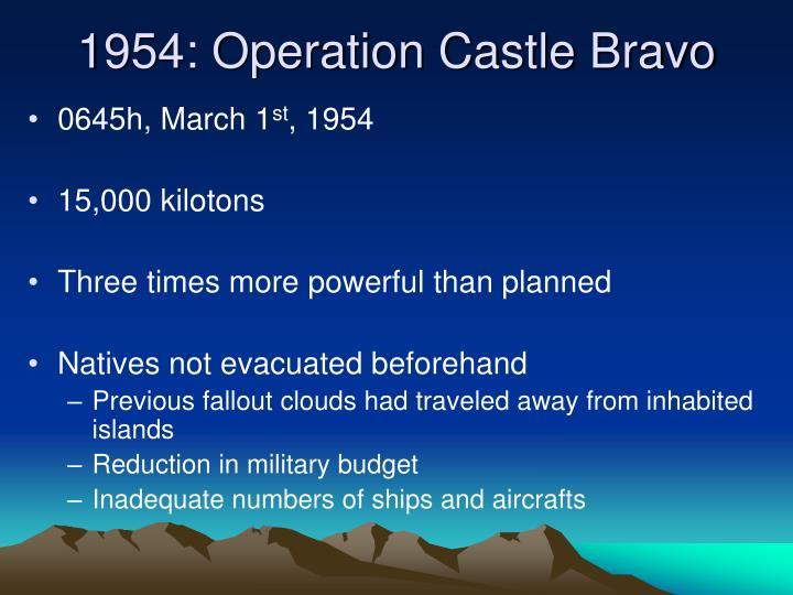 1954: Operation Castle Bravo