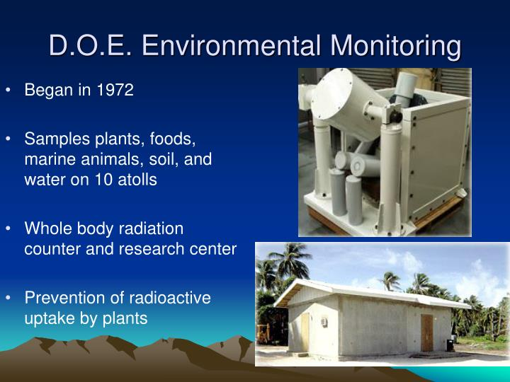 D.O.E. Environmental Monitoring