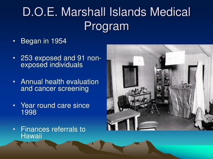 D.O.E. Marshall Islands Medical Program