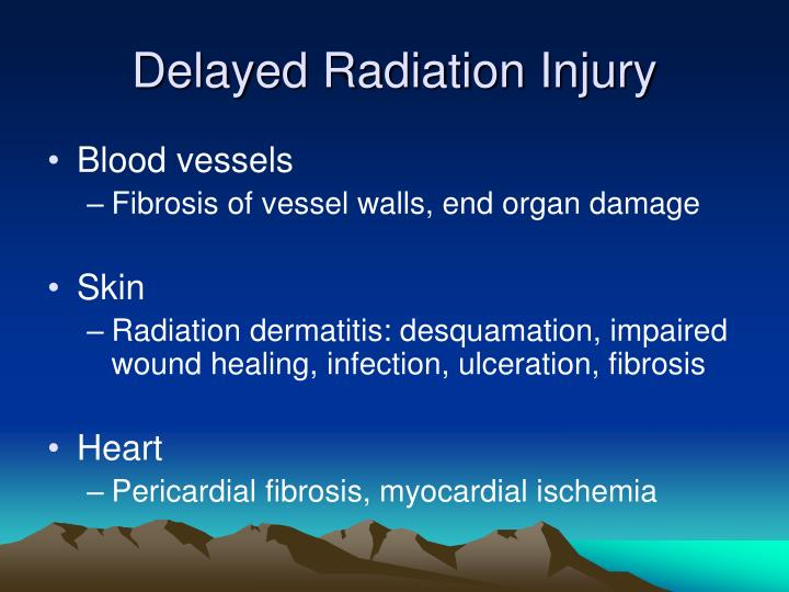 Delayed Radiation Injury