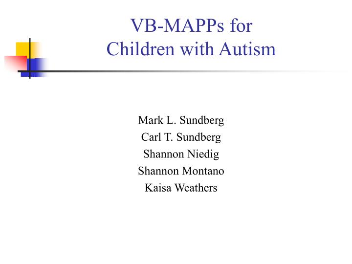 VB-MAPPs for