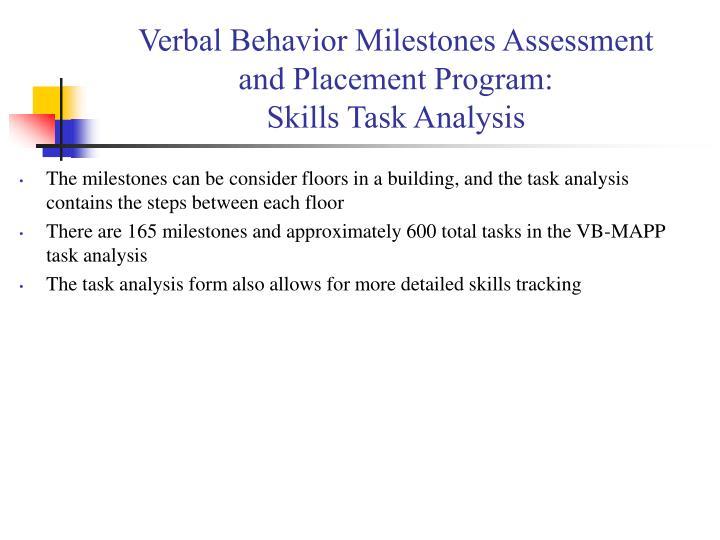Verbal Behavior Milestones Assessment