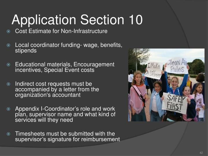 Application Section 10