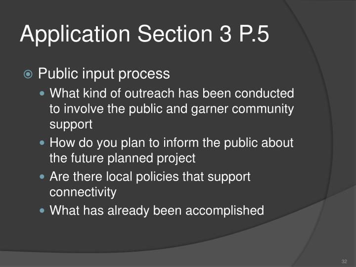 Application Section 3 P.5