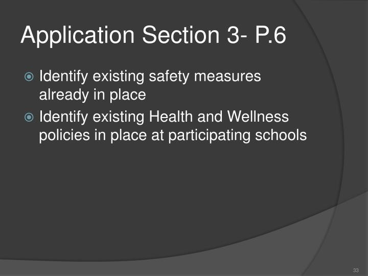Application Section 3- P.6