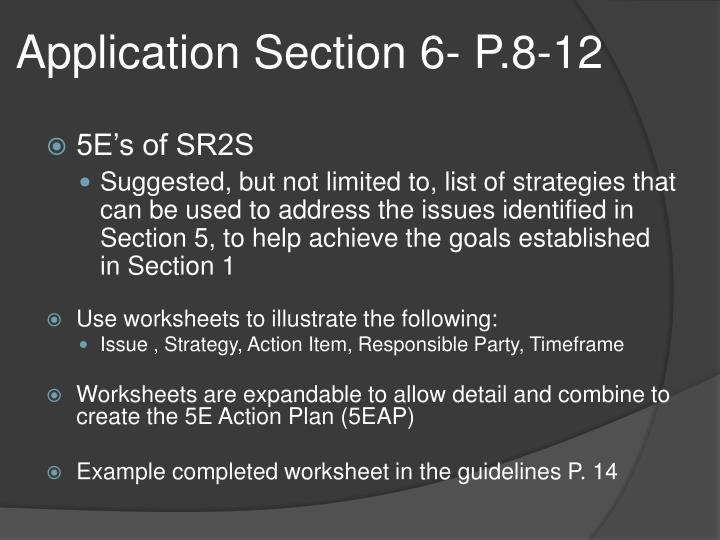 Application Section 6- P.8-12