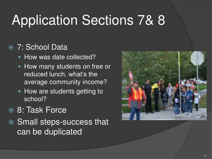 Application Sections 7& 8