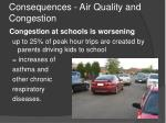 consequences air quality and congestion