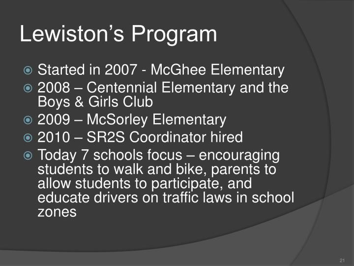 Lewiston's Program