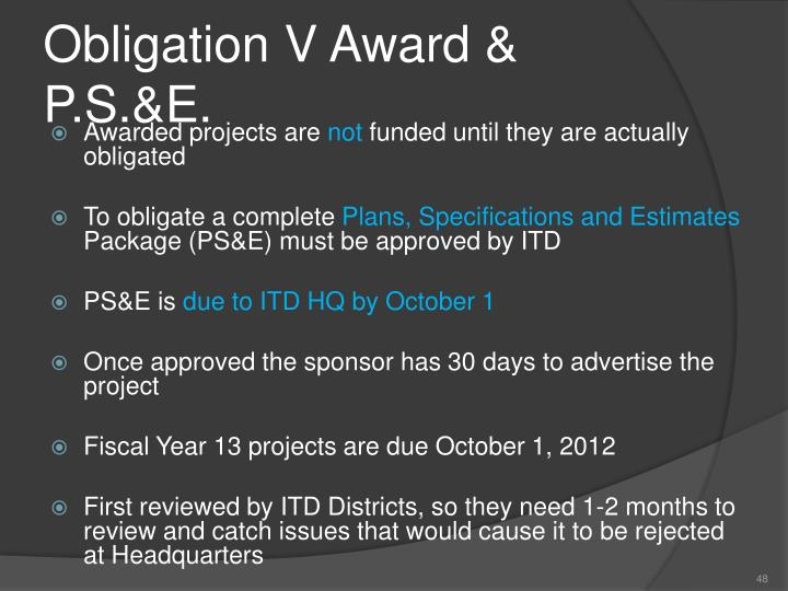 Obligation V Award &