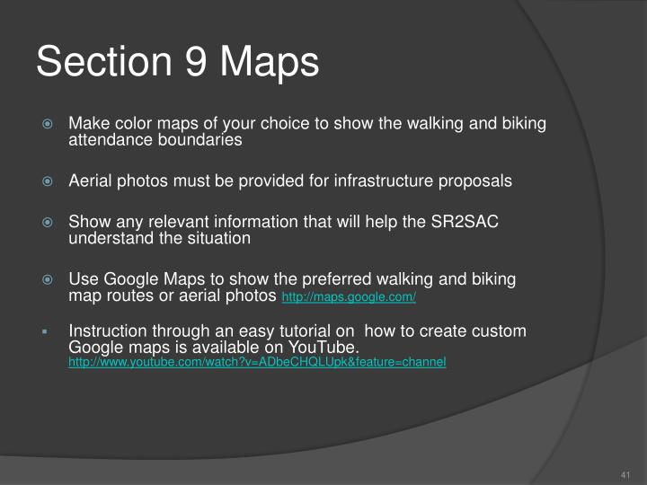 Section 9 Maps