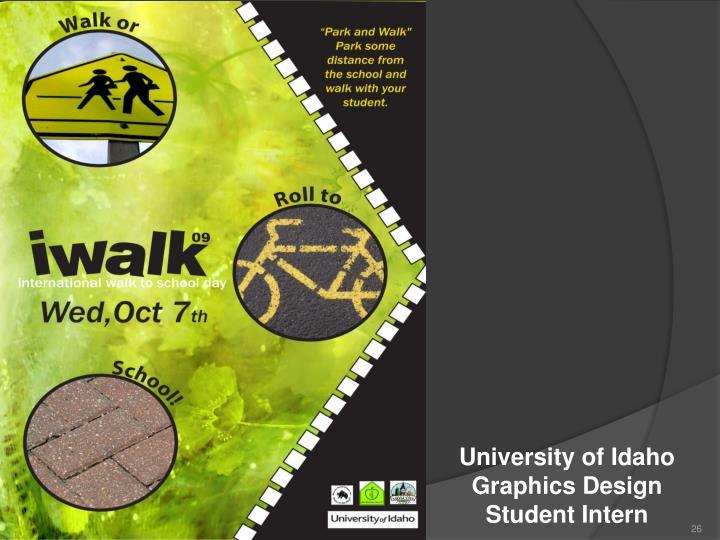 University of Idaho Graphics Design Student Intern