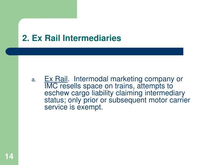 2. Ex Rail Intermediaries