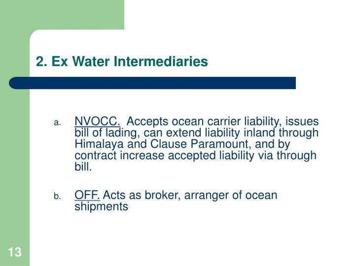 2. Ex Water Intermediaries