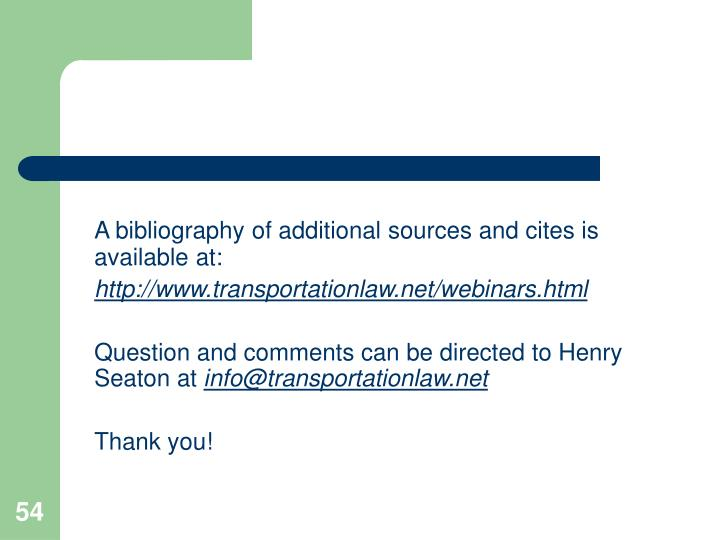 A bibliography of additional sources and cites is available at: