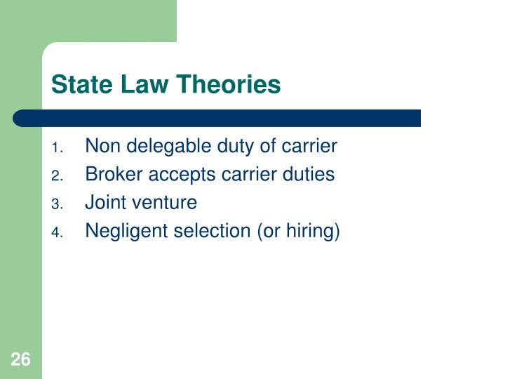 State Law Theories