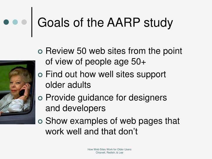 Goals of the AARP study
