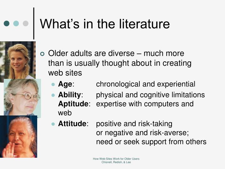 What's in the literature