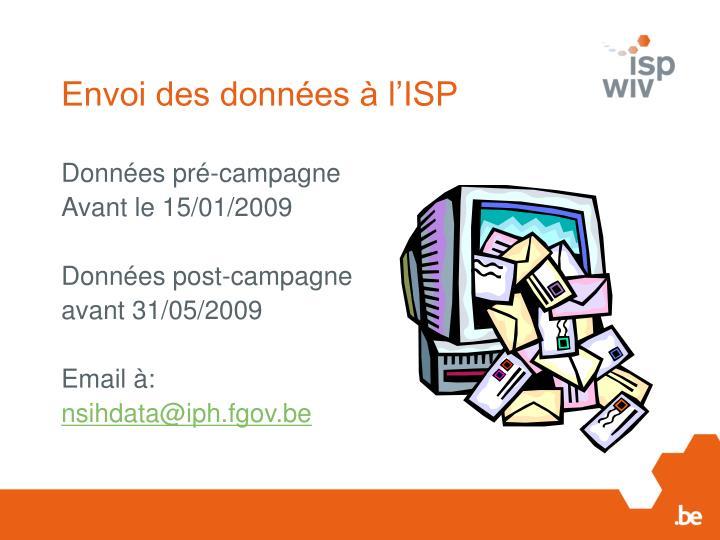 Envoi des données à l'ISP