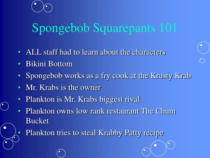 Spongebob Squarepants 101