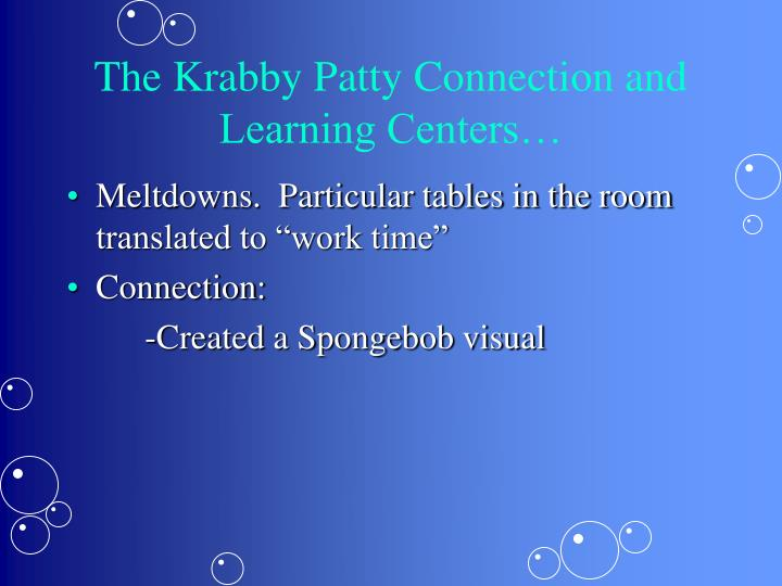 The Krabby Patty Connection and