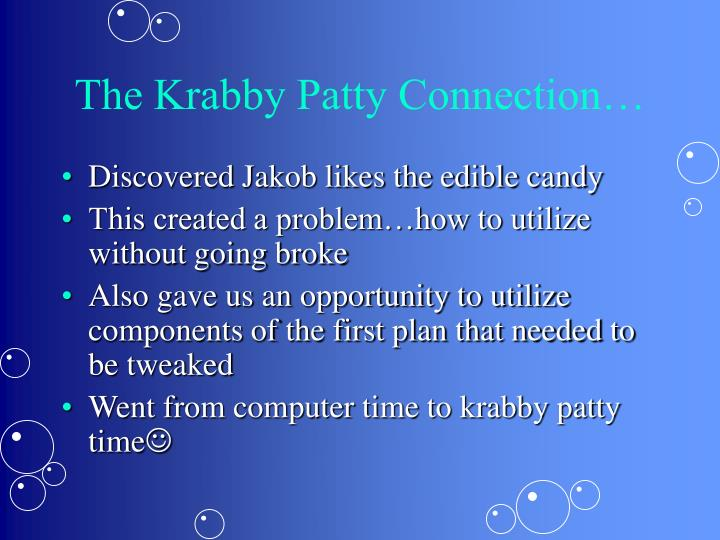 The Krabby Patty Connection…