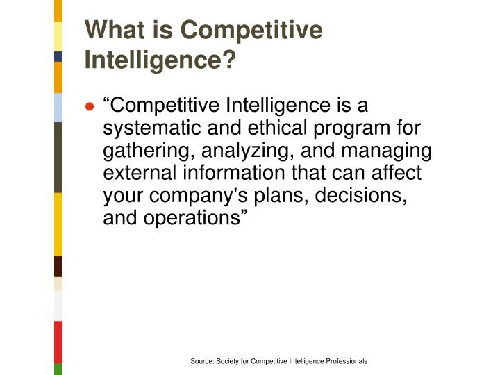 What is Competitive Intelligence?