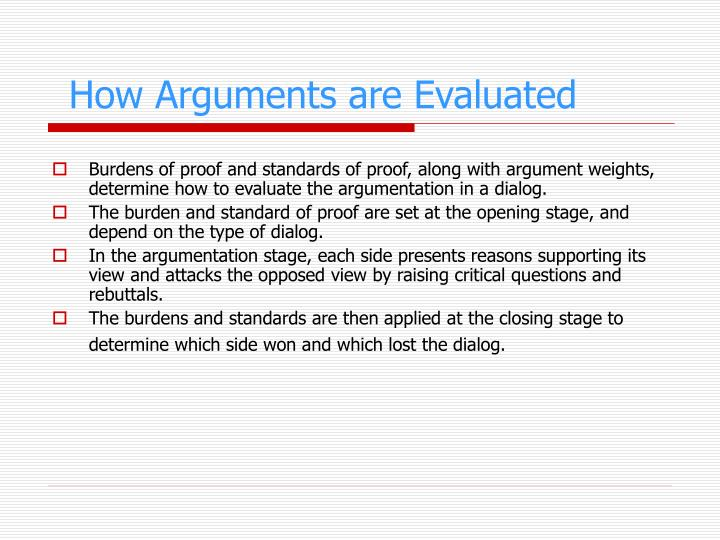 How Arguments are Evaluated
