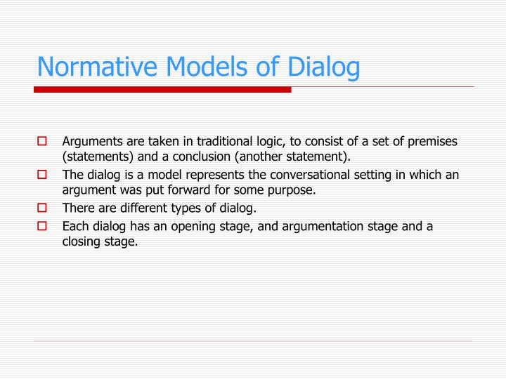 Normative Models of Dialog