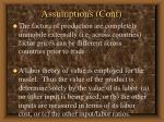 assumptions cont