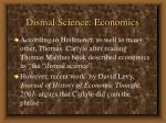 dismal science economics