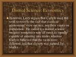 dismal science economics1