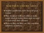 malthus and ricardo