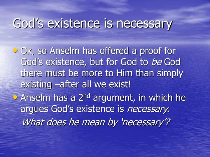 God's existence is necessary